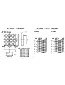 8x8 3mm Anot Dot Matrix